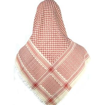 Urban Red And White Palestine Scarf