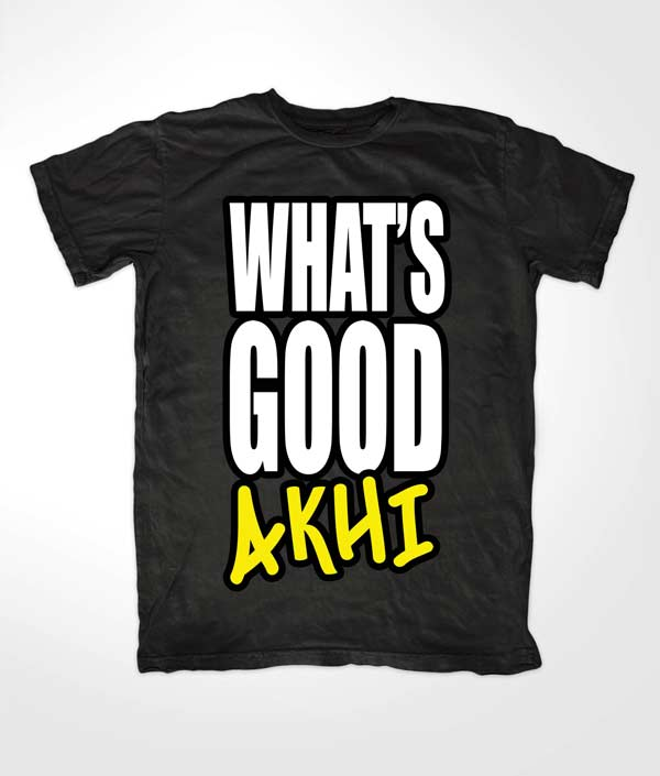 Whats Good Akhi Islamic Black T shirt