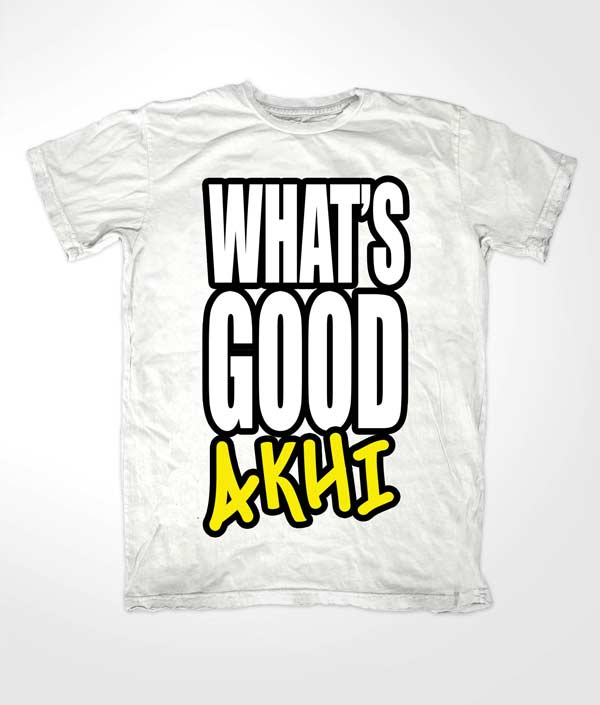 Whats Good Akhi Islamic White T shirt