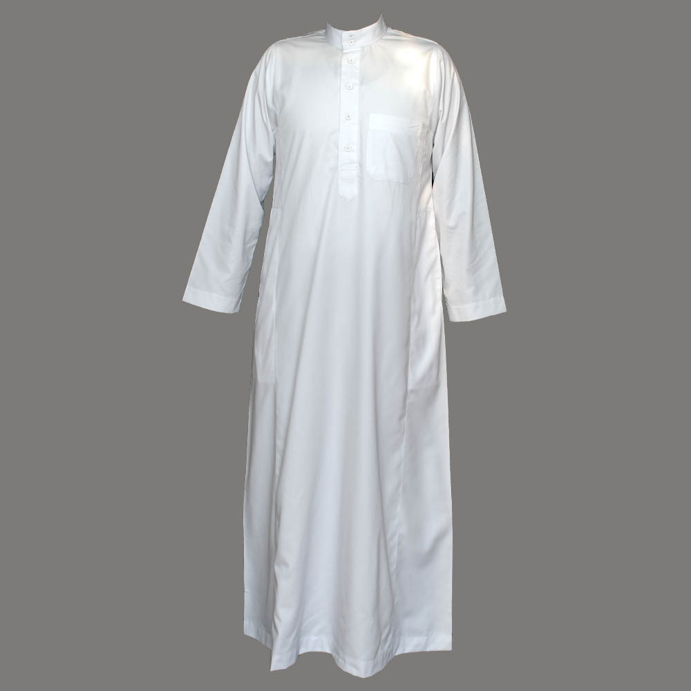 White Coller Plain Jubba Thobe
