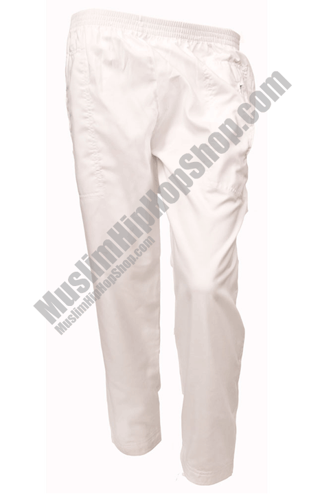 White Islamic Trousers for muslim
