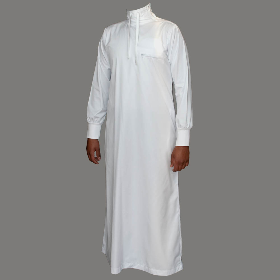 White Polo Neck Jubba Thobe