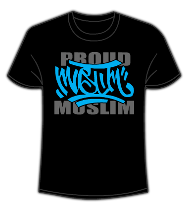 Proud Muslim Graffiti tshirt black